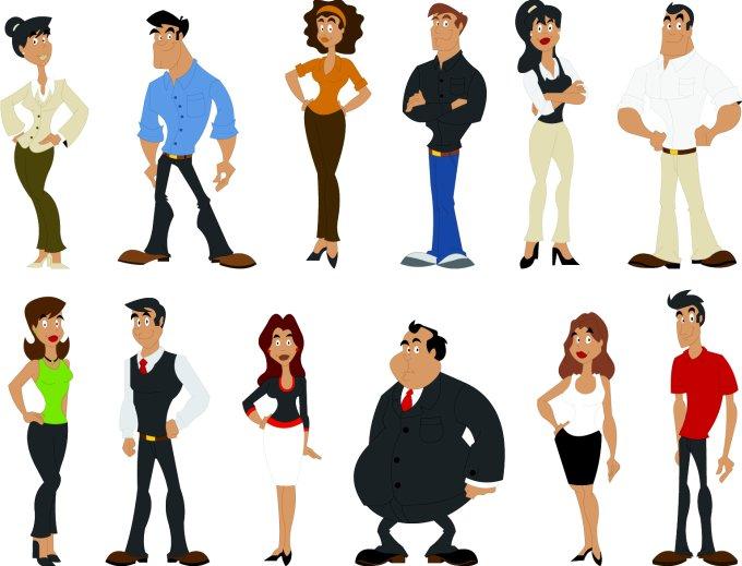 Cartoon Character People