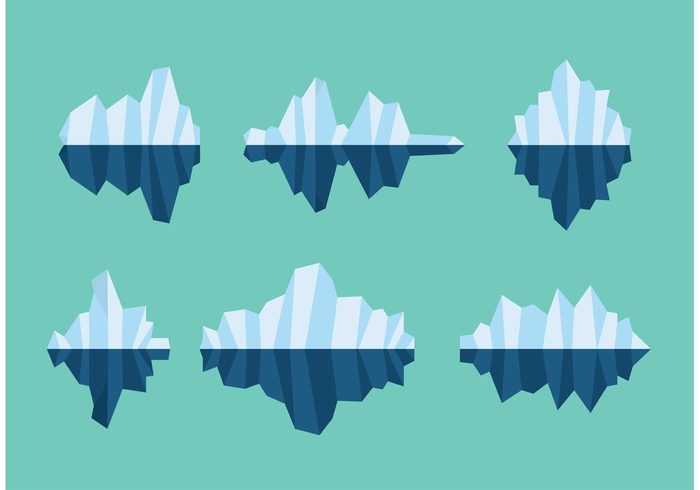 Cartoon Picture of a Floating Iceberg