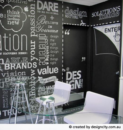 Chalkboard Wall Office Design