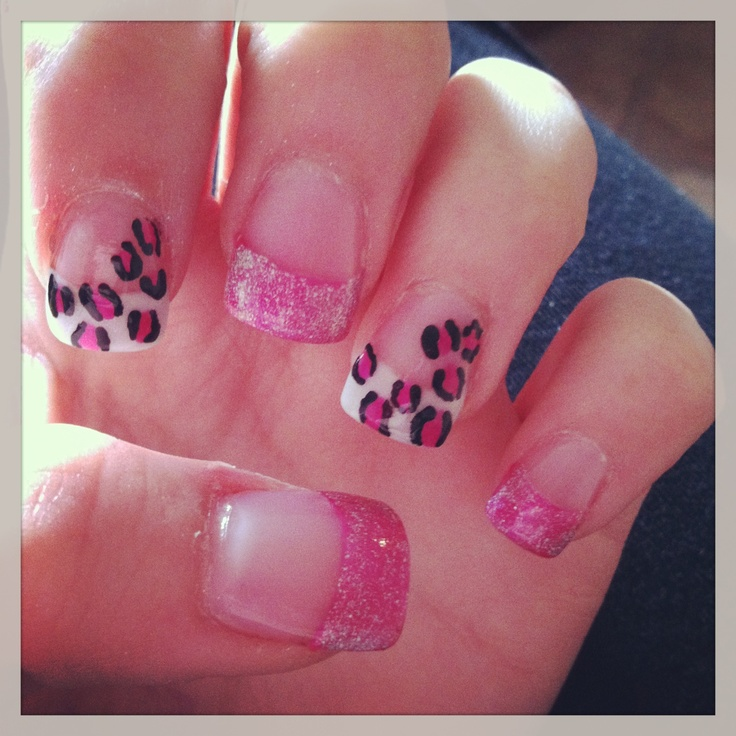 Cheetah Print Acrylic Nail Designs