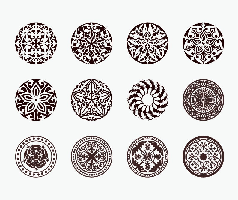Circle Vector Ornaments