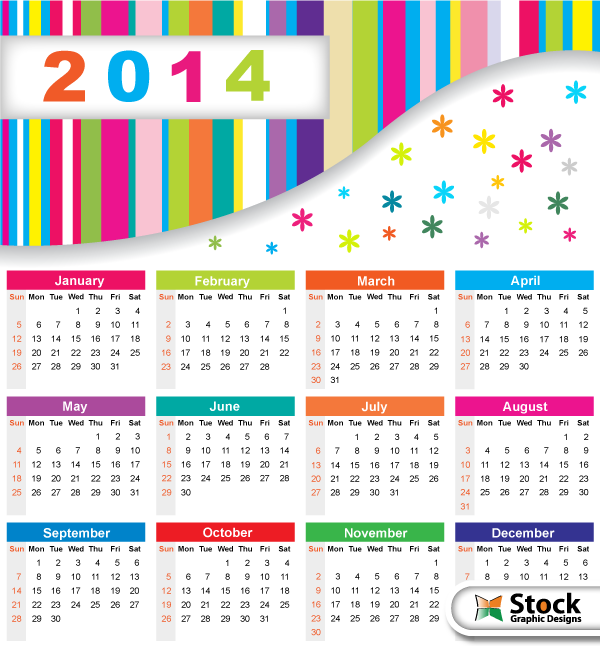 18 Free Calendar Templates Vector Images 2012 Calendar Design