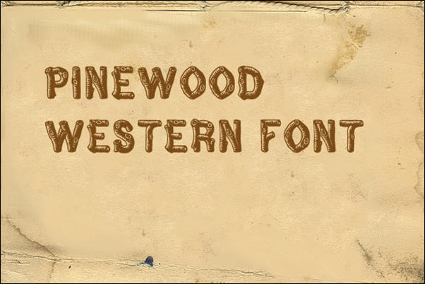 Wood Logs Fonts ~ Pinewood font free download images that