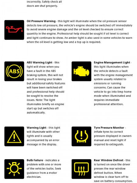 12 Icons Dashboard Warning Lights On Cars Images Car Dashboard