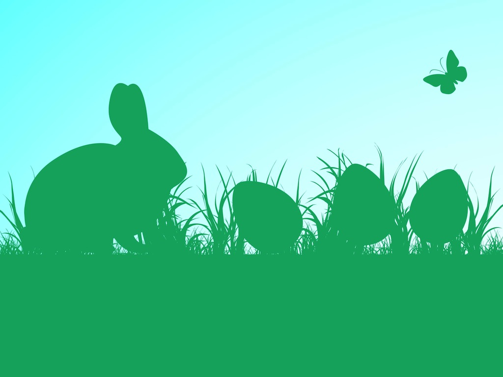 clipart image easter bunny silhouette - photo #37