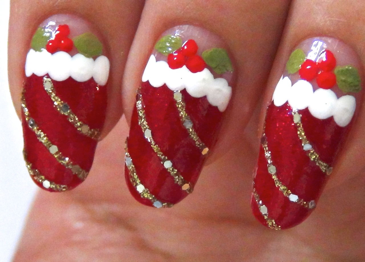 13 Christmas Nail Art Designs Images