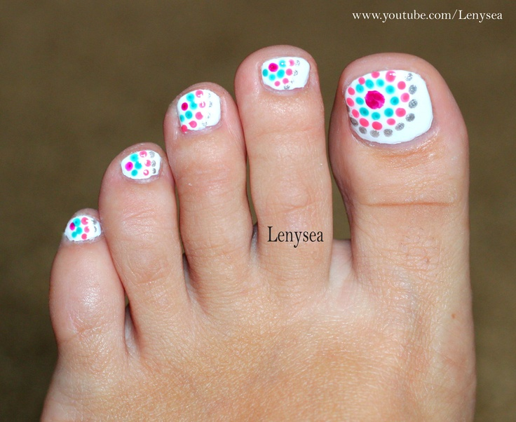 16 Easy Cute Summer Toe Designs Images