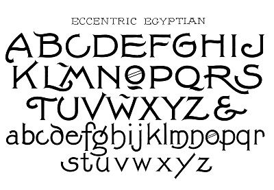 11 Egyptian Font Graphic Design Images