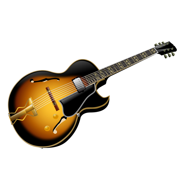 18 Guitar Vector Graphic Images