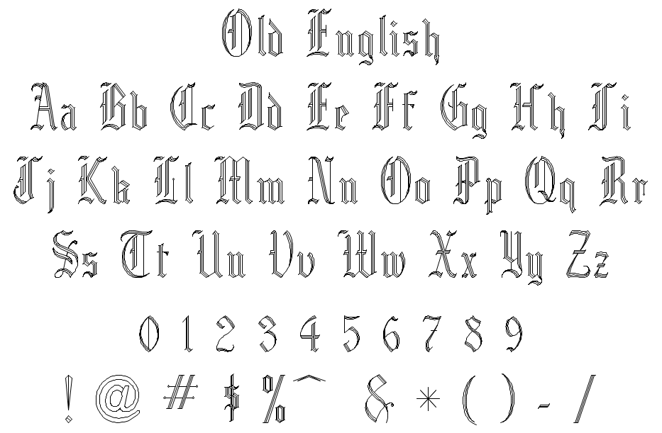 Old English Style Lettering Gallery Reference Letter Template Word
