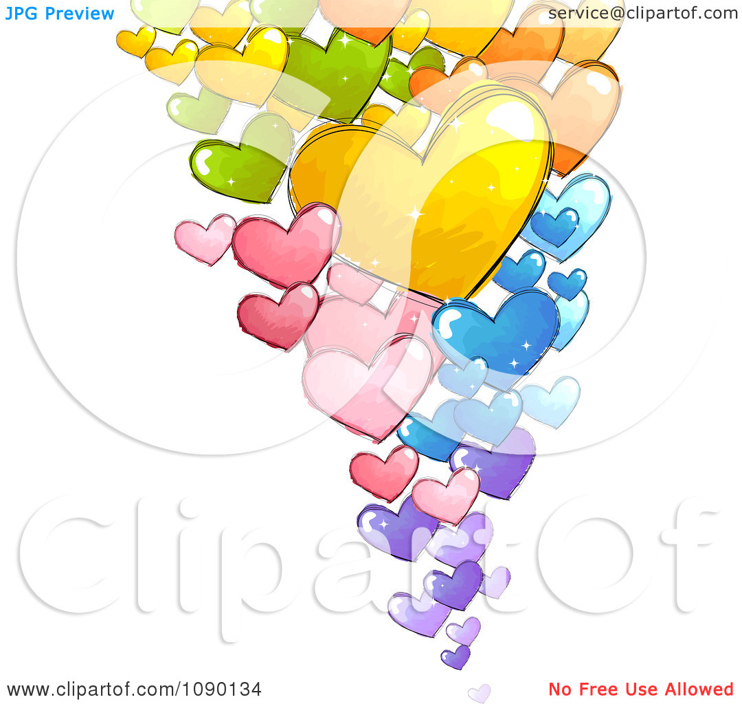 Floating Hearts Clip Art Free