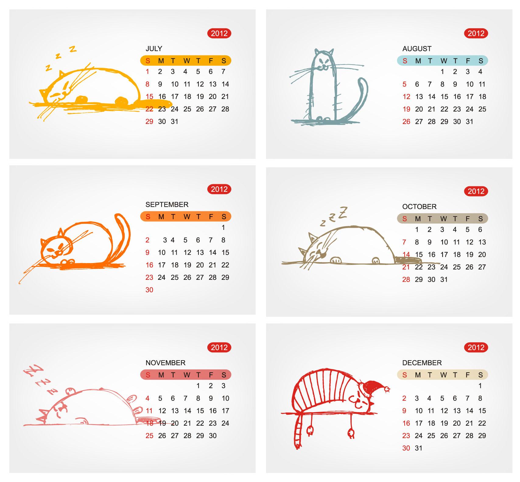 Calendar Illustration Template : Free calendar templates vector images