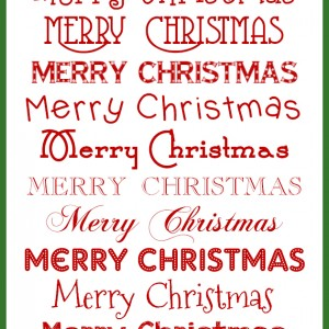Free Holiday Fonts Christmas