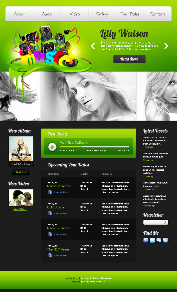 17 Free Music Website Templates Images - Free Music Download