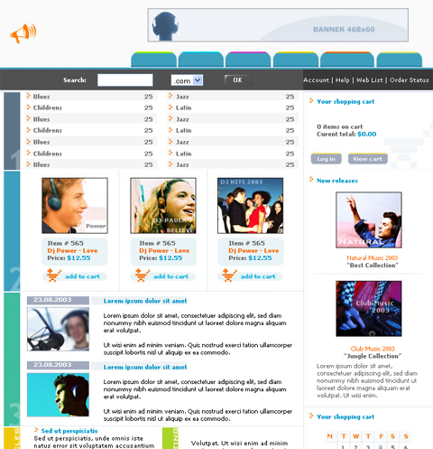 17 Free Music Website Templates Images - Free Music Download Website ...