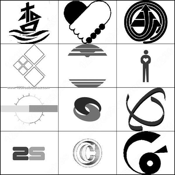 9 Photoshop Logo Shapes Images