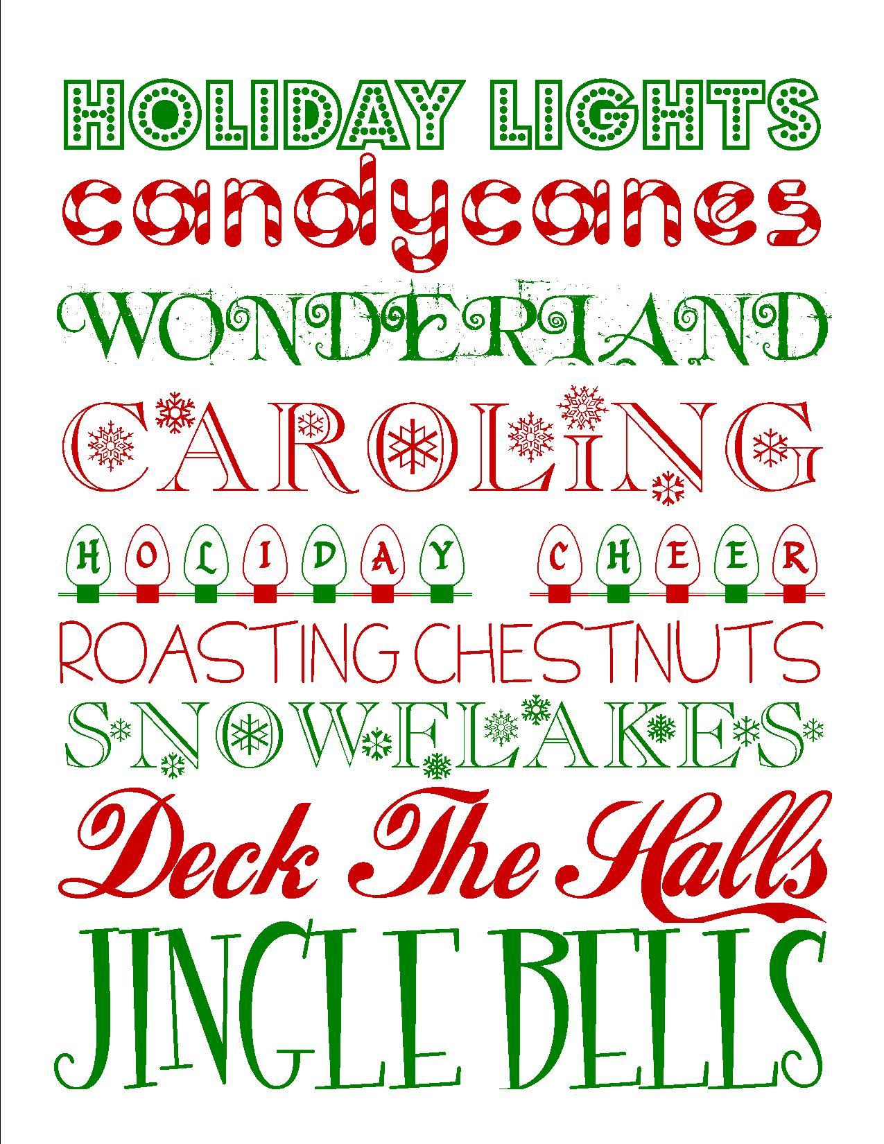 Christmas Subway Art.15 Christmas Font Printables Images Free Printable