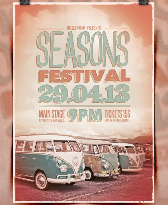 20 Free Retro Poster Psd Images Vintage Flyer Template Free Free