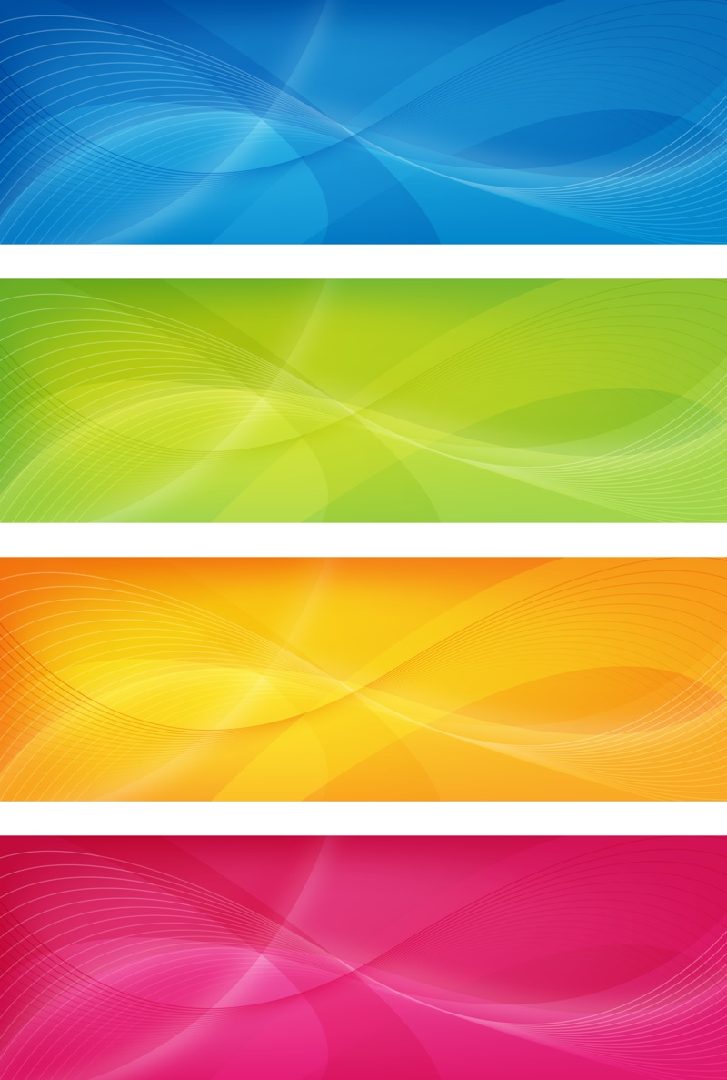 17 Rainbow Banner Vector Graphics Images