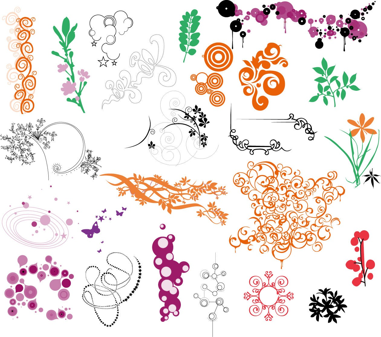 12 Vector Ornament Sets Images