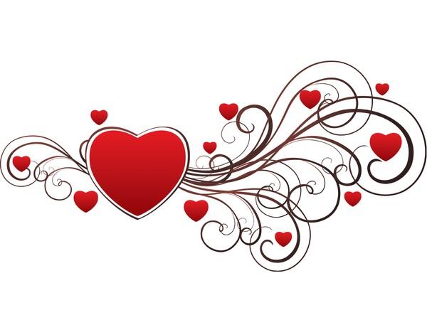 14 Heart Swirl Vector Images