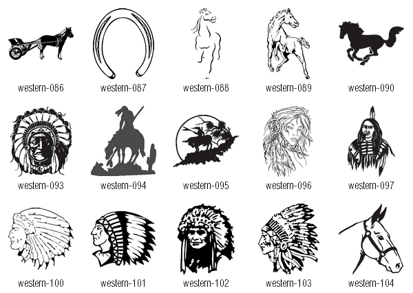 19 Western Vector Graphics Images