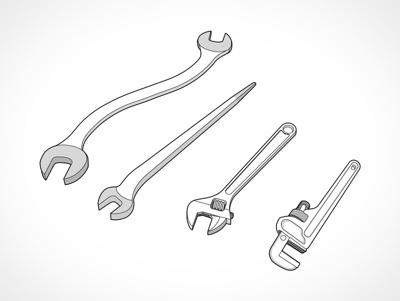 12 Wrench Vector Free Images