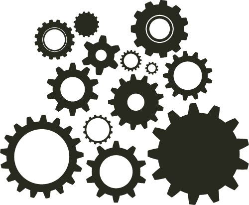 15 Steampunk Gears Vector Images