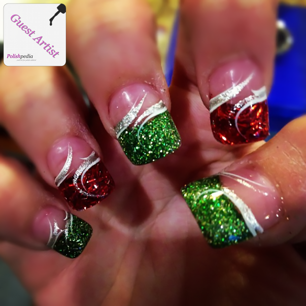 15 Green And Red Christmas Acrylic Nail Designs Images