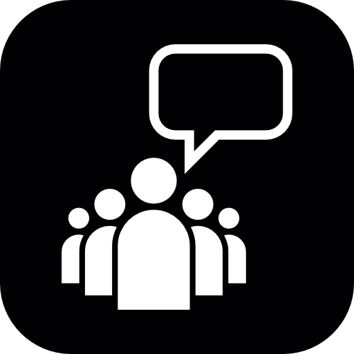 Group of People Talking Icon