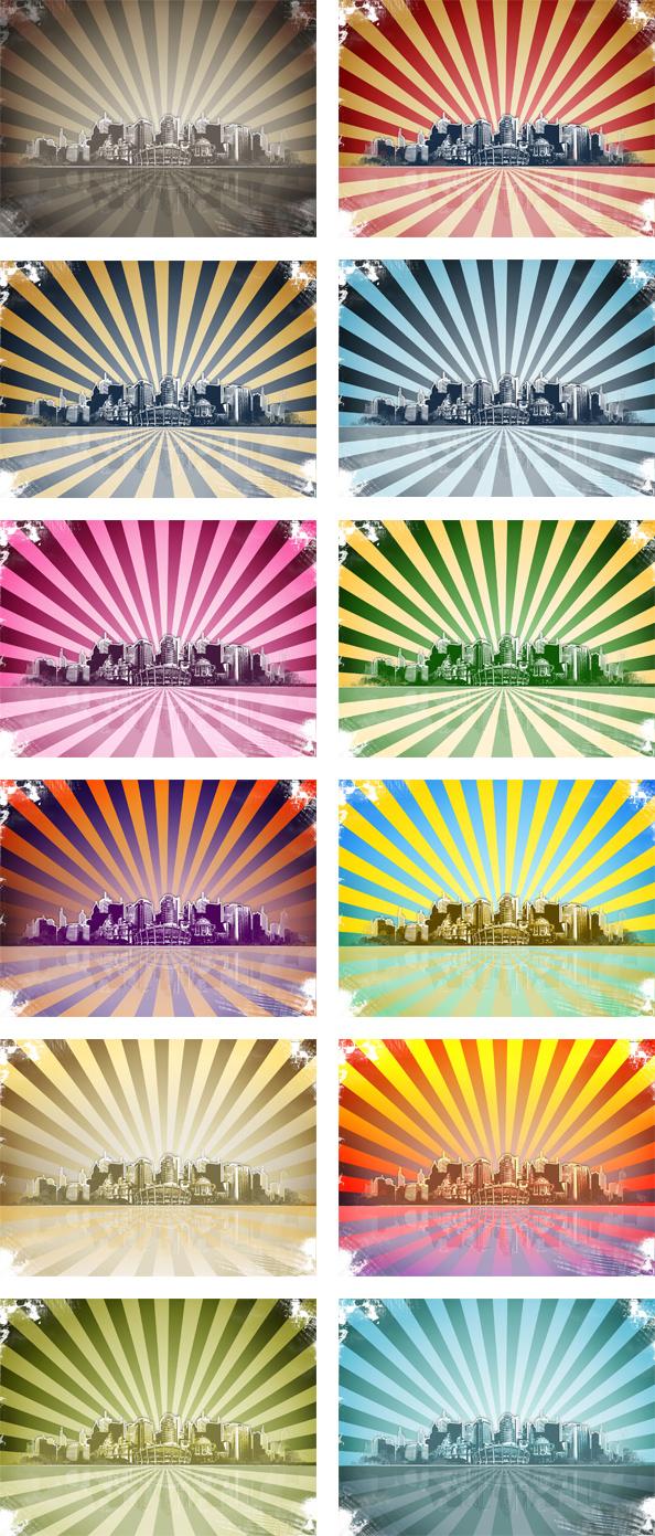 Grunge City Background for Photoshop