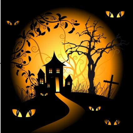 Halloween Bats Black Background