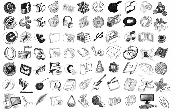16 Free Hand Drawn Icons Images