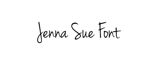 Handwritten Free Fonts Jenna Sue