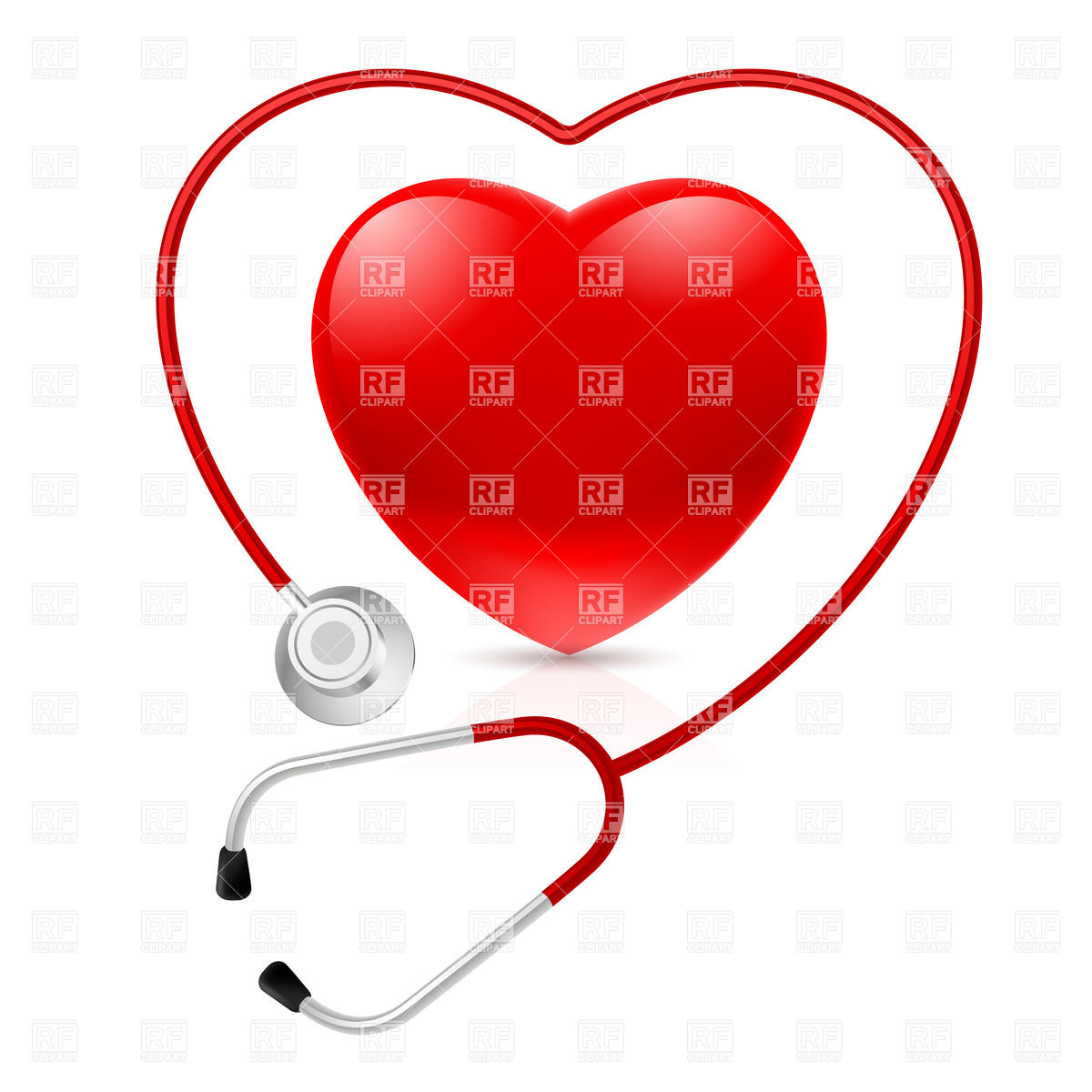 Heart Shaped Stethoscope Clip Art