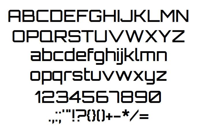 High-Tech Fonts Free