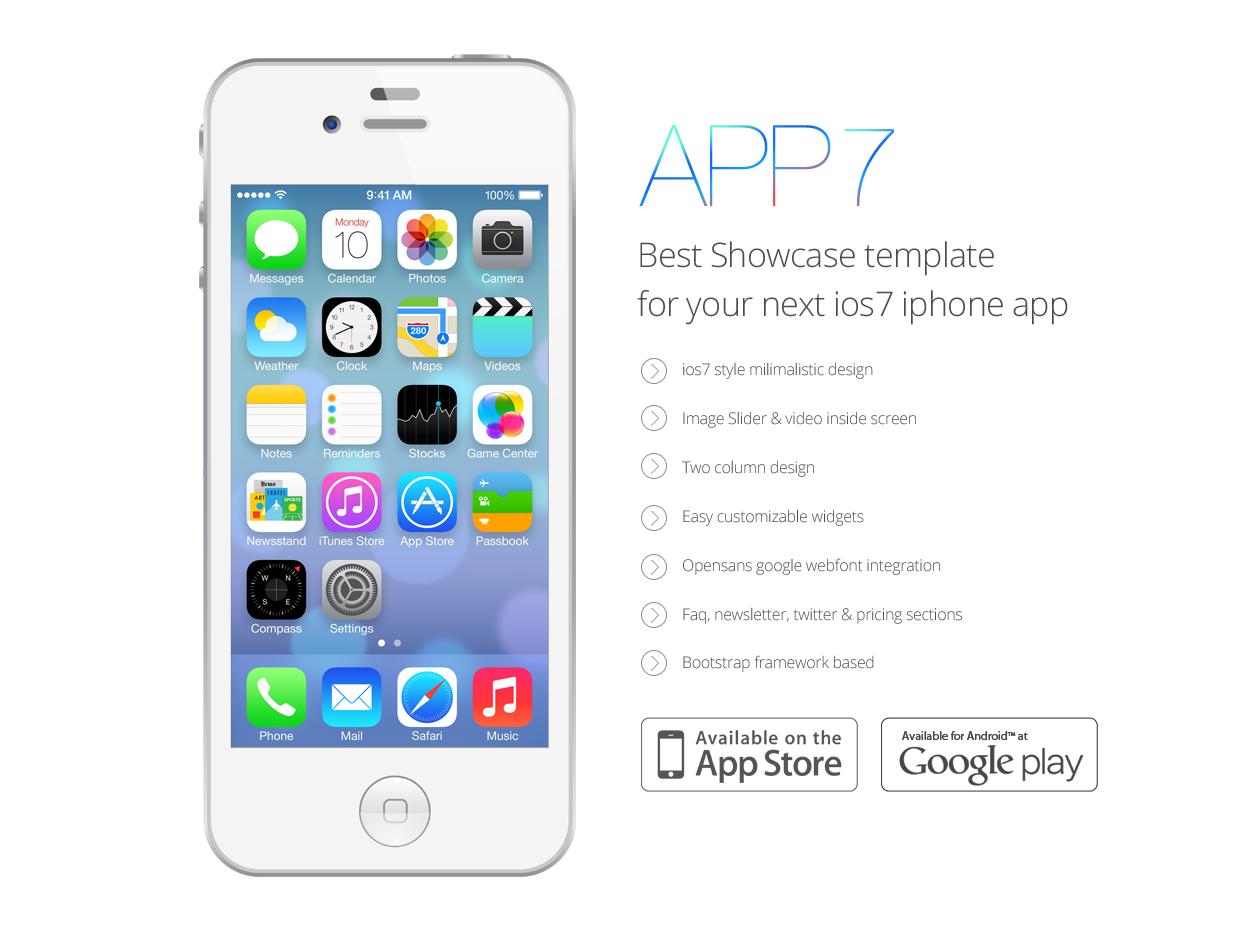 15 IOS 7 App PSD Images