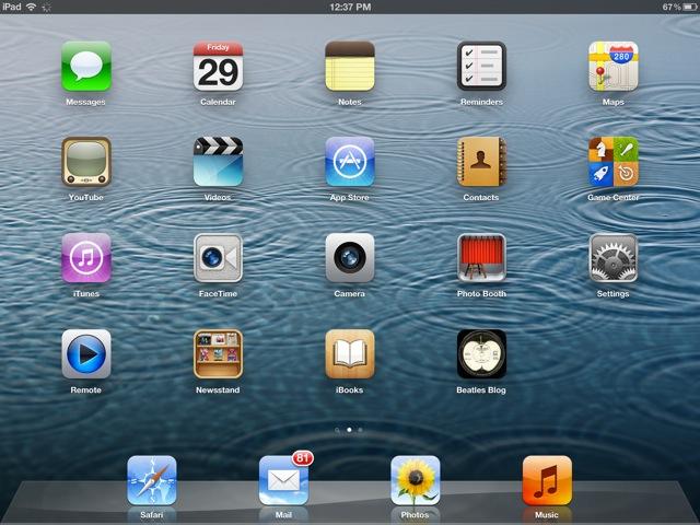 iPad Home Screen Icons