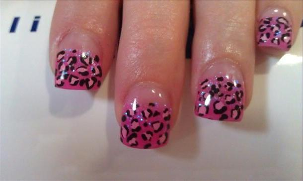 Leopard Print Acrylic Nail Designs