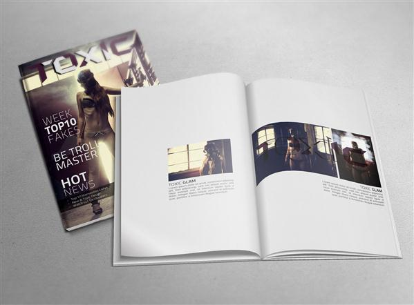 Magazine Mockup PSD Free Download