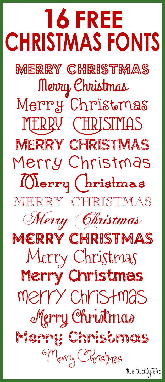 8 Free Christmas Fonts Images