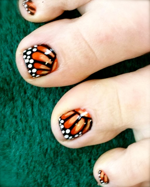20 Butterfly Toe Nail Designs Images