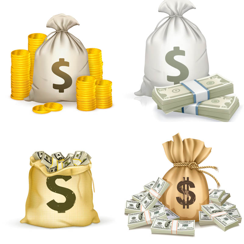 13 Money Bag Vector Graphics Images