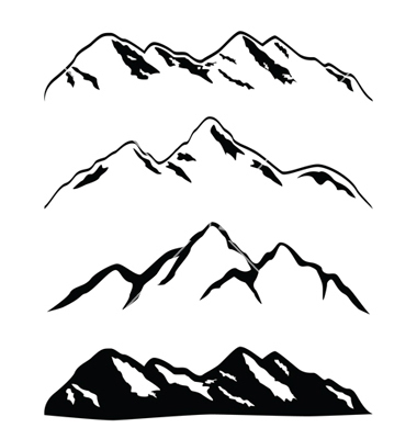 11 Mountains Vector Clip Art Collections Images