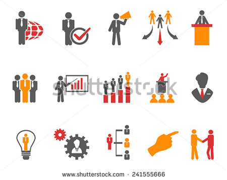 Orange Business Management Icon