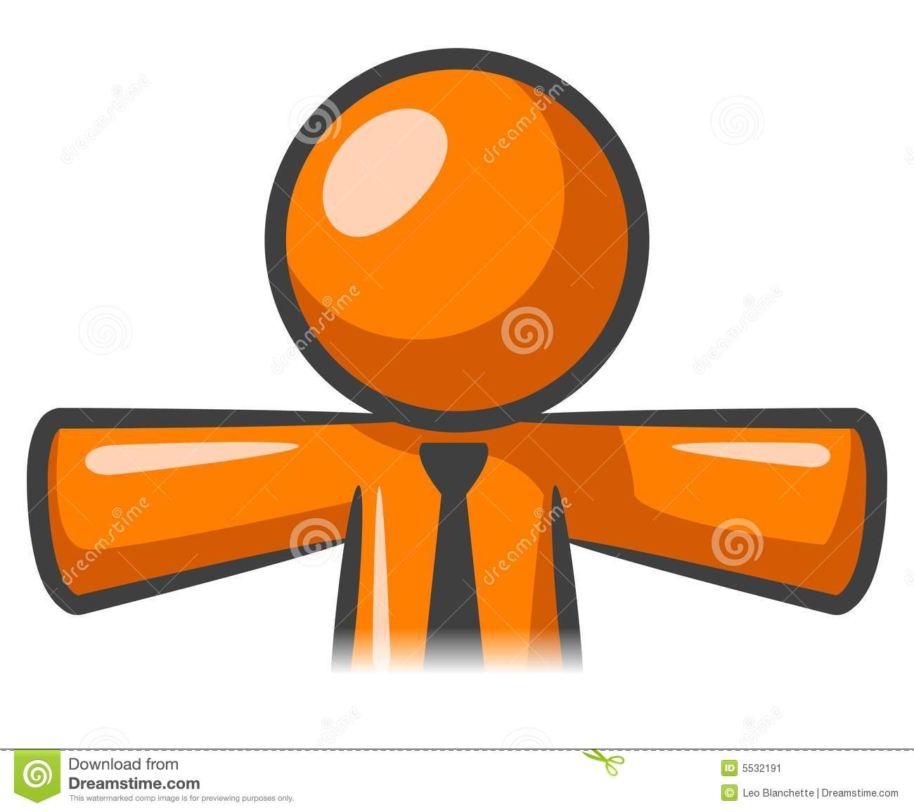 Orange Man Icon