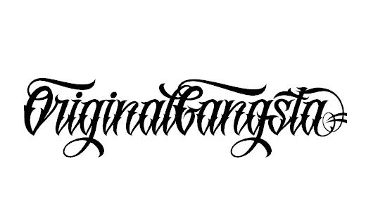 10 Original Gangsta Font Lettering Images
