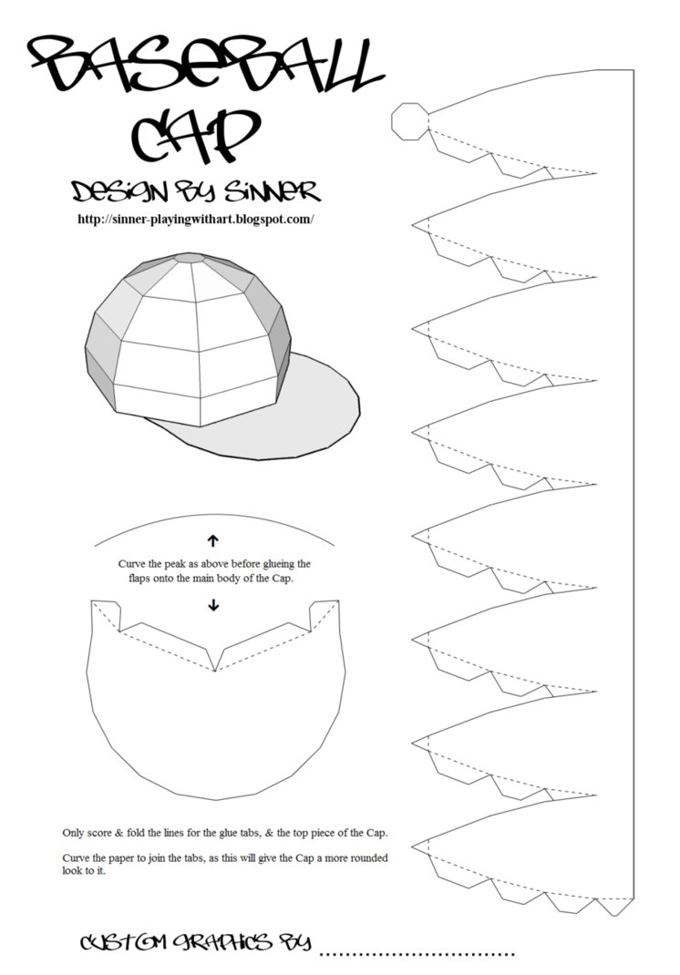 19 Paper Doll Baseball Cap Template Images