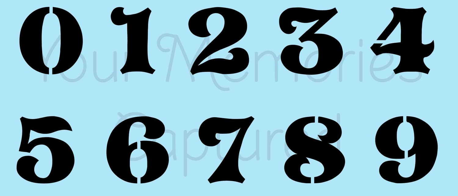 Image Gallery of Stencil Number Fonts
