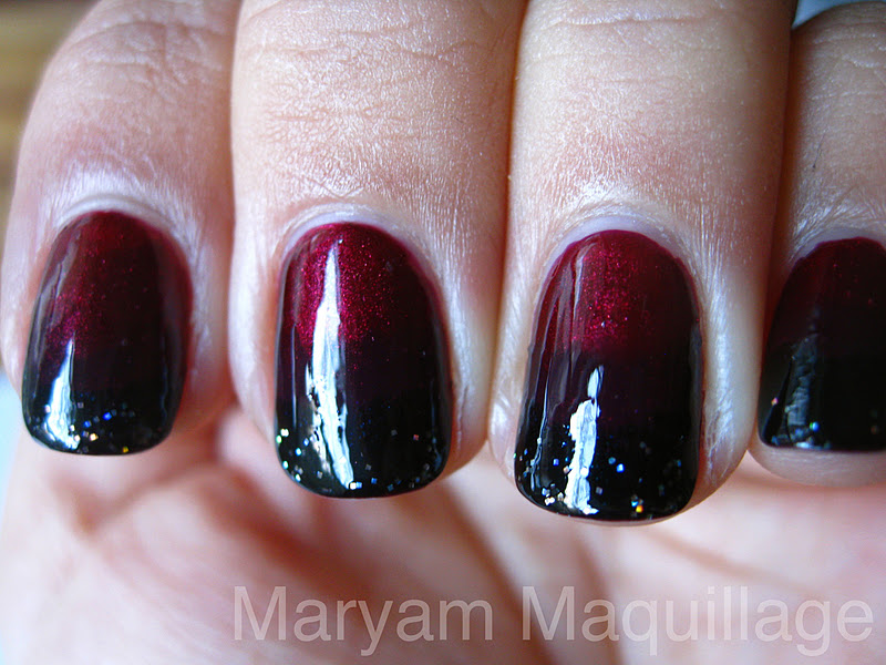 Red and Black Gel Nail Designs